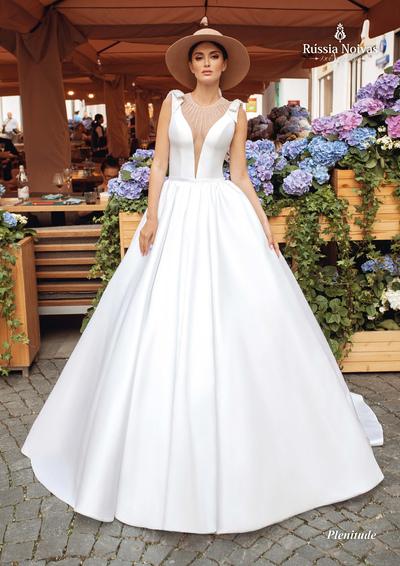 vestido de noiva em v