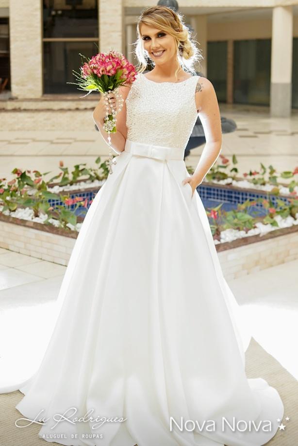 vestido de noiva com cinto