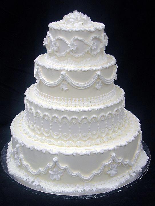 ideias de bolo de casamento clássico