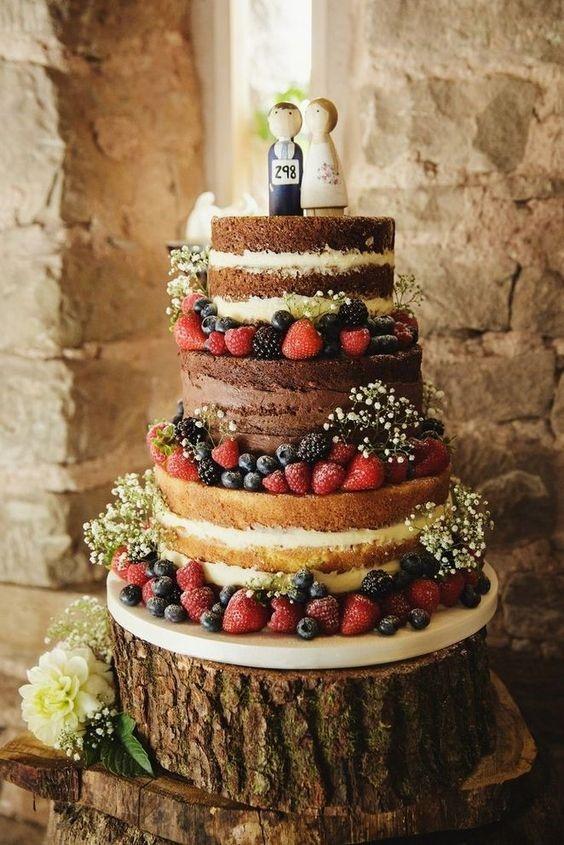 bolo rústico para casamento