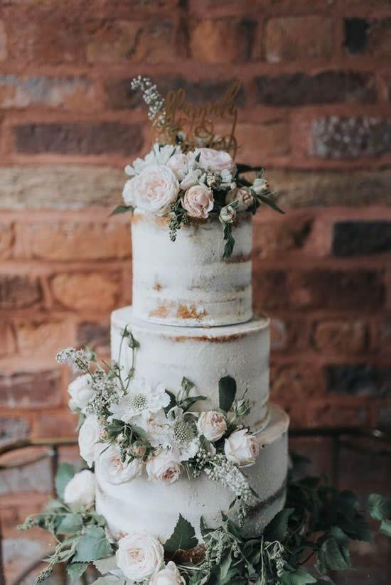 ideias de bolo rustico para casamento